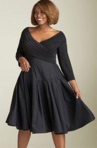 fekete taft ruha