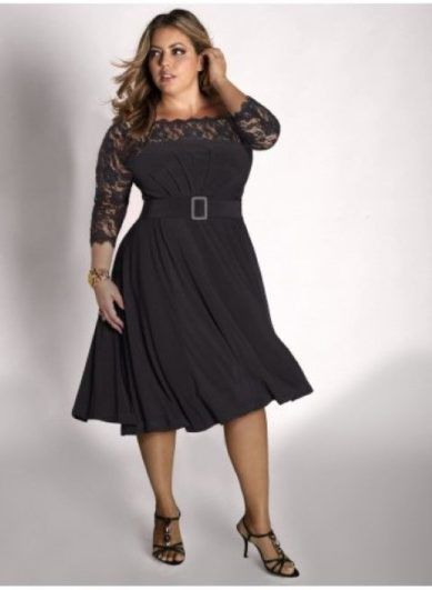 molett fazonú fekete ruha